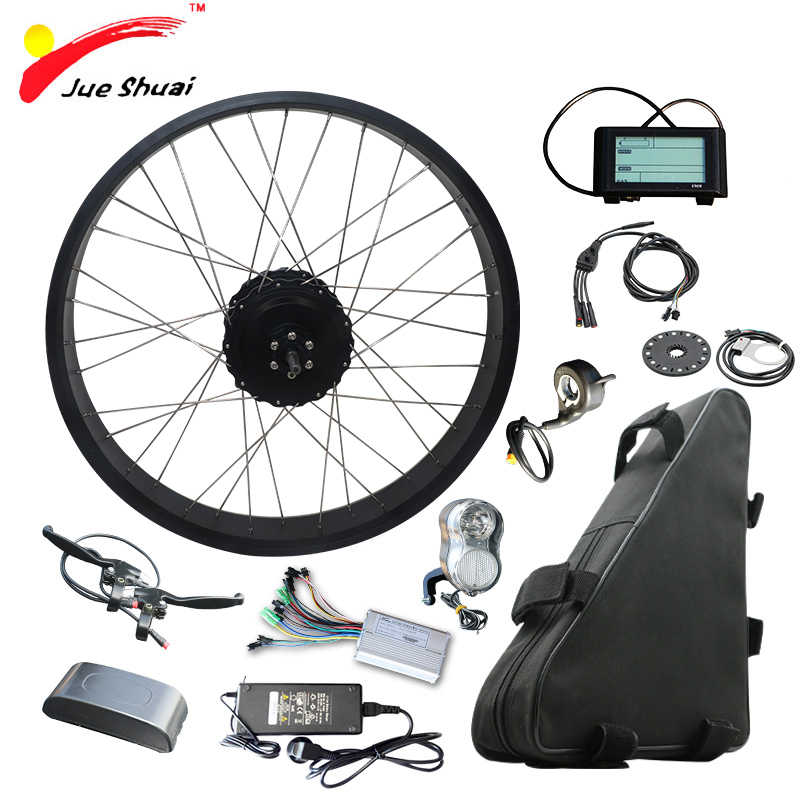 "48V 1000W Electric Bicycle Kit with 48V 20AH Lithium Battery 4.0 Tire Fat Bikes 20"" 26"" Motor Wheel Ebike electronic diy kit"