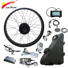 "48V 1000W Electric Bicycle Kit with 48V 20AH Lithium Battery 4.0 Tire Fat Bikes 20"" 26"" Motor Wheel Ebike electronic diy kit(China)"