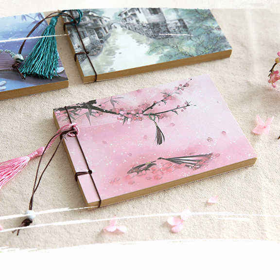 JIANWU 1pc Chinese style Retro creative notebook Manual binding Memo pad A6 mini notebook Kraft paper DiaryJIANWU 1pc Chinese style Retro creative notebook Manual binding Memo pad A6 mini notebook Kraft paper Diary