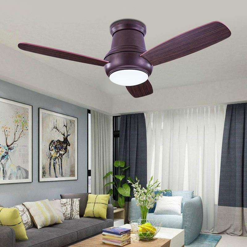 LED Ceiling Fan Light European and American Modern Light Simple Hotel Project Suction Fan Light|Ceiling Fans|   - title=