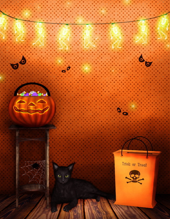 5x7ft thin vinyl cloth photography backdrops computer printing photo backdrops halloween backgrounds for photo studio ha 012 - Halloween Backdrop