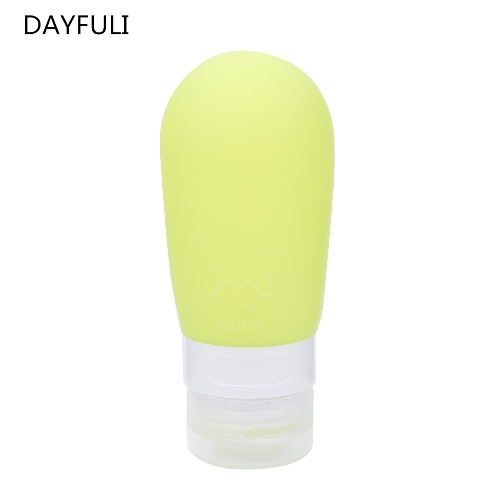 Mini Portable Silicone Travel Bottles Cosmetic Shampoo Lotion Container 3 Colors