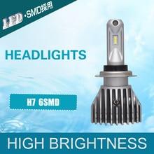 6SMD Automotive Truck Motocicleta H7 LED Fog Lâmpadas Novo Padrão Sem Ventilador Head Light Super Bright 40 W 8000LM 6000 K Branco DC 9 V 36 V