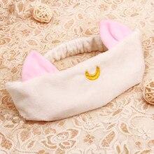 3 цвета, 20-я годовщина, Сейлор Мун Луна, кошка, мягкие животные и плюшевые кошачьи уши, для девочек, мыть лицо, Плюшевые аксессуары, Подарочная игрушка