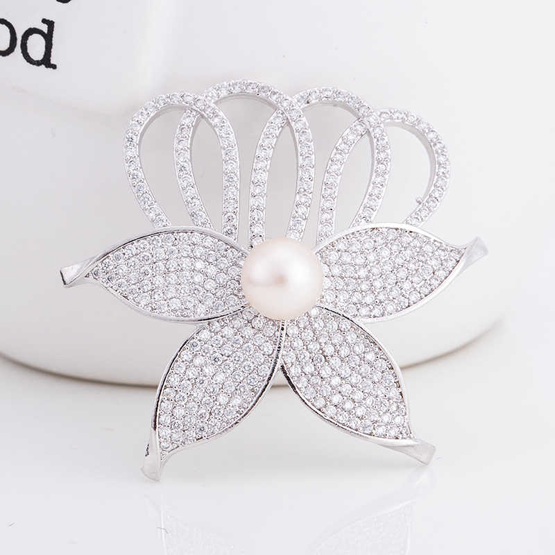 8ab6e27a6a8 ... Hot Exquisite Enamel Pins Cherry Broshes Flower Freshwater Pearl Brooch  Zircon Brooches for Women Wedding Jewelry ...