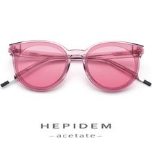 Acetate Sunglasses Women High Quality Brand Designer Cat Eye Oversize Korean Kurt Cobain Sun Glasses for Nylon Mirror Lens