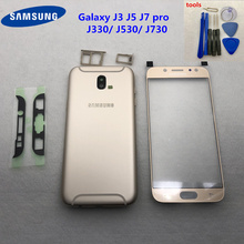 Voor Samsung Galaxy J3 J5 Pro J7 2017 J330F J530F Aluminium back cover Behuizing Case Batterij Back Cover J730F + voor Glas + tool