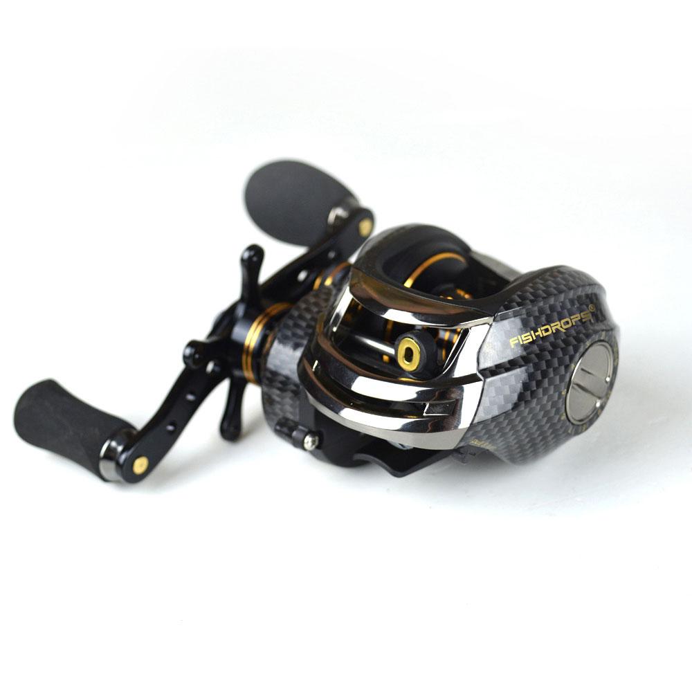 Sistema de Freio 17 plus 1 Shishamo Baitcasting Reel Duplo Carretel 5.5 kg Max Arraste Bbs 7.0: 1 Alta Velocidade Fishing Reel