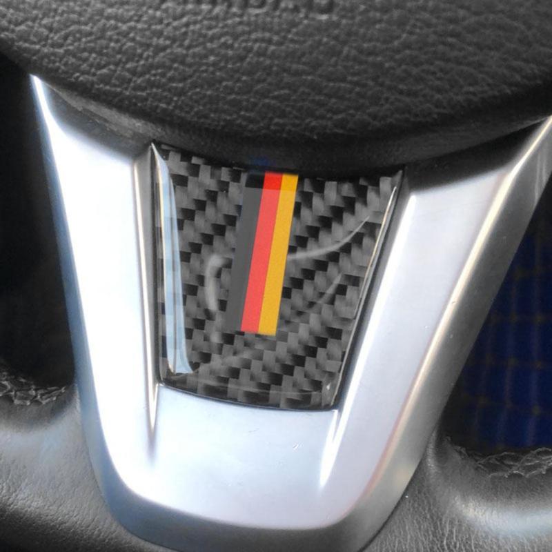 2013 Bmw Z4 Interior: VODOOL Carbon Fiber Car Steering Wheel Decor Sticker