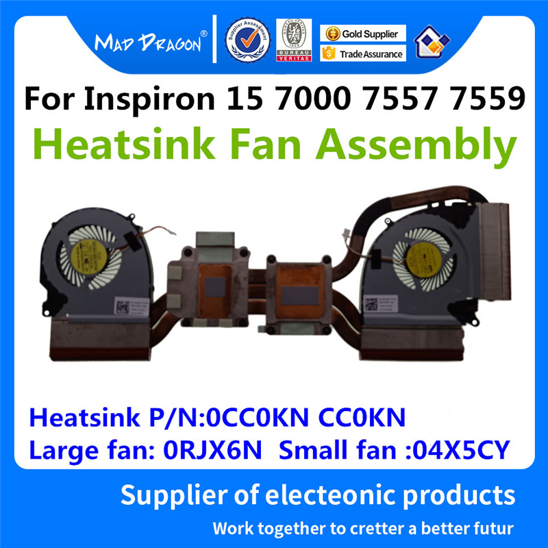 MAD DRAGON Brand Laptop New CPU Fan GPU Fan Heatsink Fan Assembly For Dell Inspiron 15 7000 7557 7559 0CC0KN CC0KN RJX6N 4X5CY