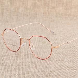 Image 4 - Hotony وصفة طبية النظارات البصرية إطار نظارات مع 6 ألوان اختيارية الجمعية الحرة مع العدسات البصرية D818
