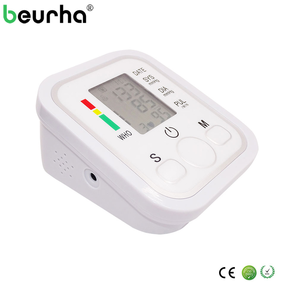 1PC Upper Arm Blood Pressure Monitor Portable Tonometer Health Care BP Digital Blood Pressure Monitor Meters Sphygmomanometer home use blood pressure monitor health care heart monitor arm blood pressure monitor sphygmomanometer nonvoice