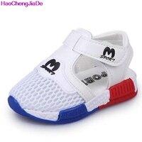 HaoChengJiaDe Spring Summer New Korean Fashion Soft Shoes For Boys Girls Sandals Hollow Mesh Breathable Beach