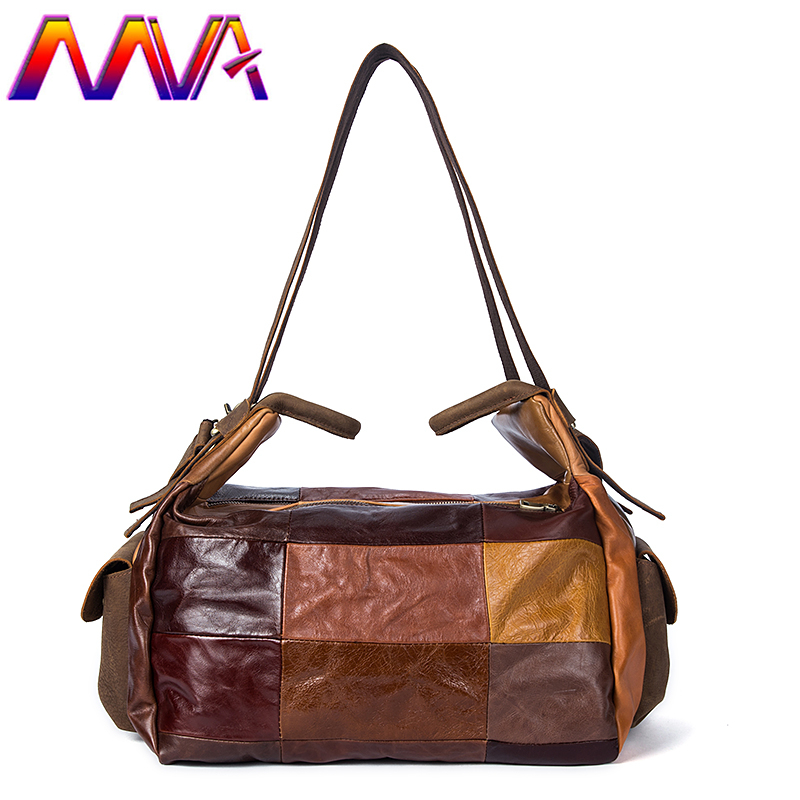 MVA 100% genuine leather travelling bag for fashion men suitcase travel bag of quality cow leather women travelling bags эстамп travelling 8 шт