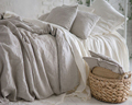 100% Natural Pure Washed Linen Duvet cover French Bed Linen Duvet Covers Flax Linen Bedding Softened Full Queen King Christmas