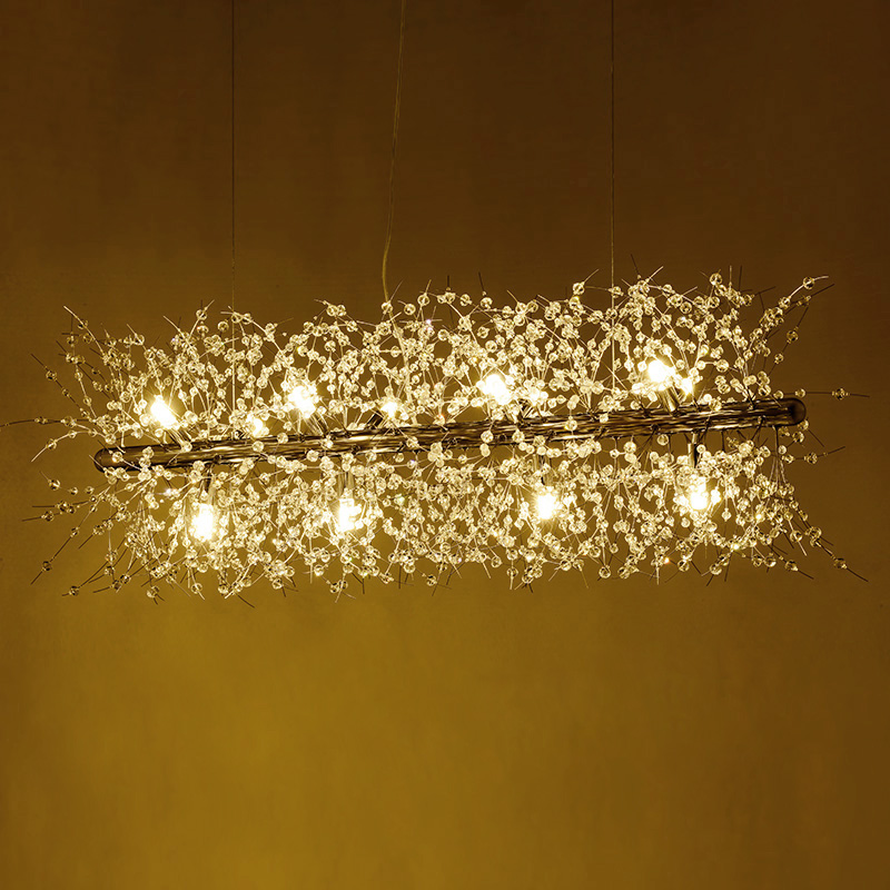 Nordic modern minimalist living room crystal chandeliers American creative art bar led warm bedroom lamps led ceiling lighting nordic modern minimalist living room crystal restaurant chandelier crystal creative led art bar warm bedroom lamps led fixture