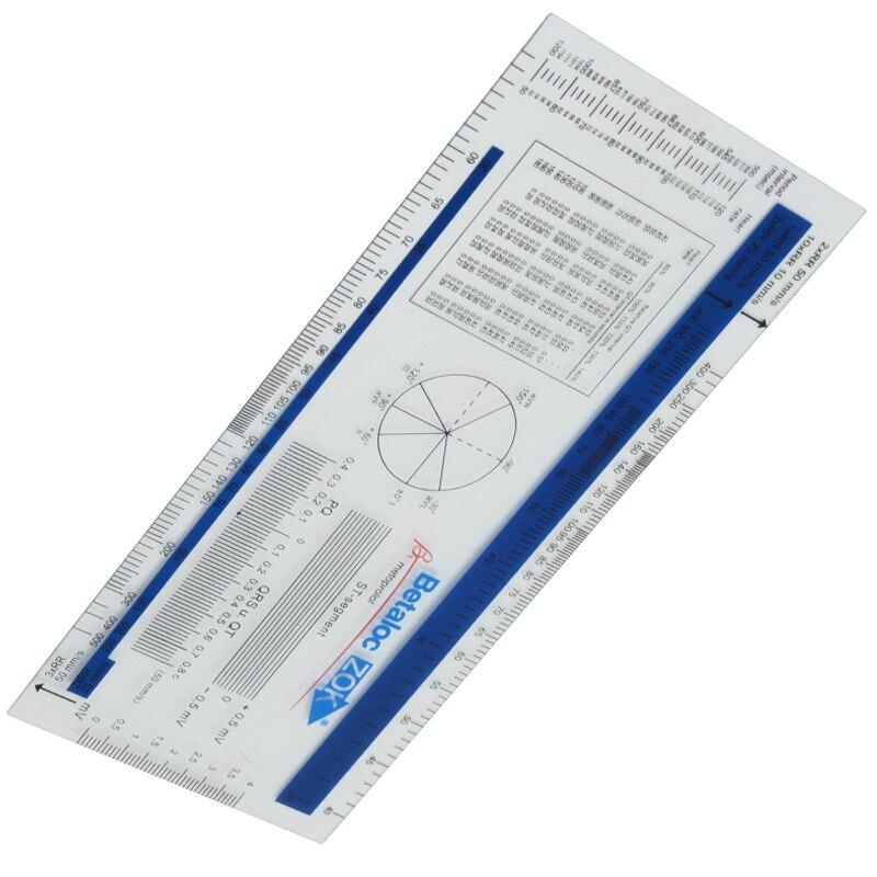 200mm PVC ECG Ruler ECG Goniometer