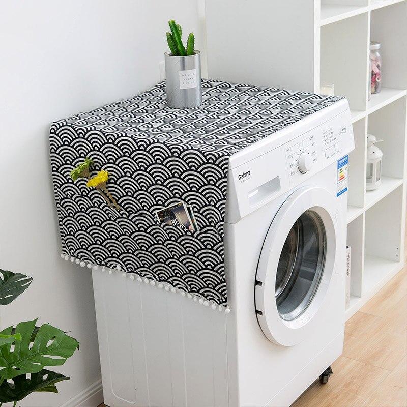 Геометрическая стиральная машина Пылезащитная Крышка для кухонного холодильника пылезащитные чехлы с сумкой для хранения чистящие аксессуары чехол - Цвет: Q