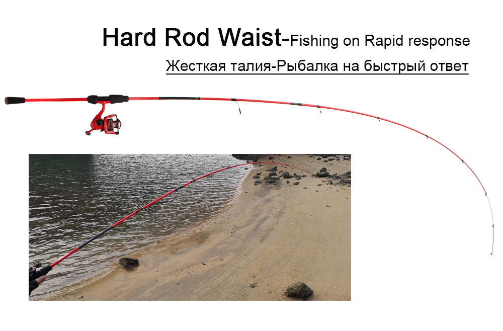 RoseWood Ultra Light, Solid Tip Rod 30T Carbon Casting Spin Fishing Rod 1.98m Fast Light Saltwater Squid Pike Fishing Pole   (3)
