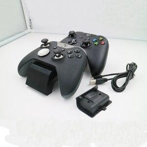 Image 5 - Z ekranem stanu ładowania gamepad stacja ładująca baza plus 2 zestawy akumulatorów do konsoli Xbox One/One S/One X