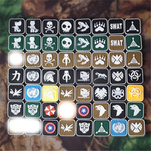 Mini PVC Patch Outdoor Army Tad 3D STICK-ON Luminous Chapter Rubber Patches Glow in the Dark stick on