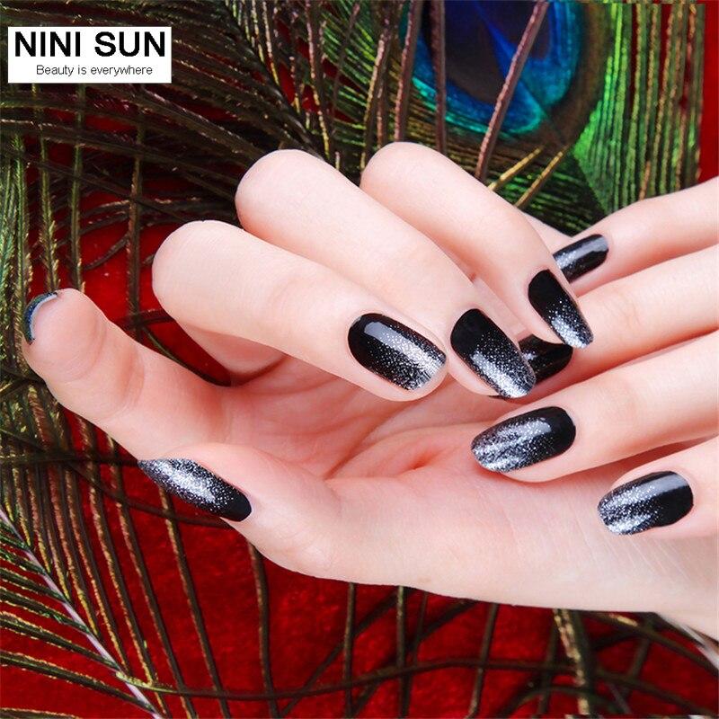 Para Mujer púrpura doble terminado 3 en 1 Esmaltes de uñas applique ...