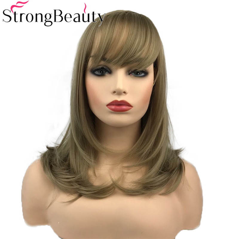 Strong Beauty Women's Wigs Natural Long Straight Hair Synthetic Wig