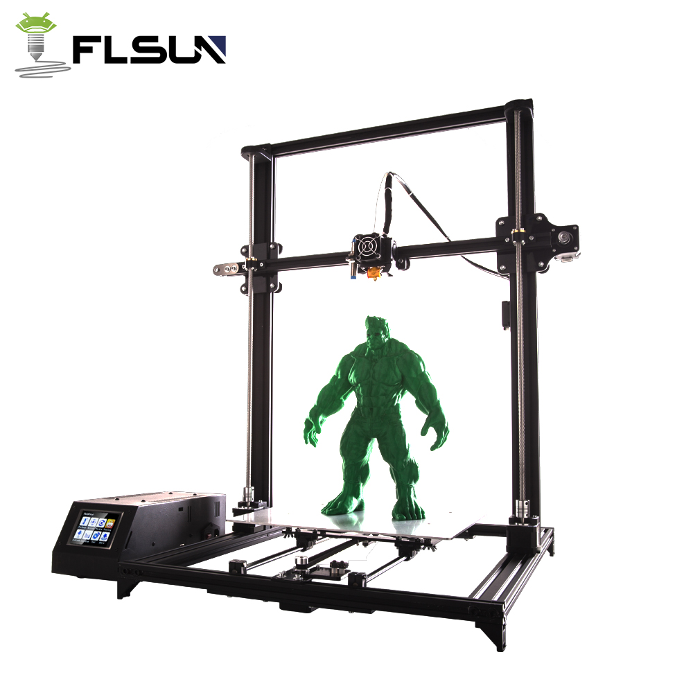 Flsun i3 3d printer 330*330*500mm Pre-Assembly Large Printing Heated Bed 3.2 Color Touch Screen Wifi Module Support 3D Printer 2017 tronxy x5 newest large printing area open build aluminium frame 3d printer kit flsun cube printer 3d with heated bed