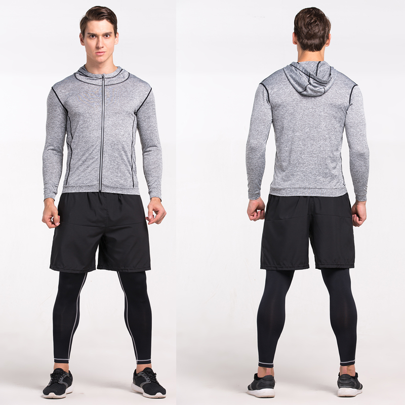 Heren Running Run Jacket Sweaters Compressie Panty Fitness Oefening - Sportkleding en accessoires - Foto 2