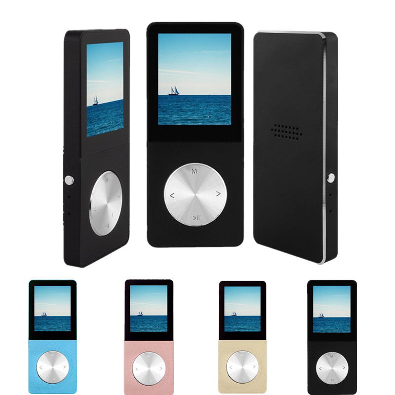FGHGF Portable Metal MP3 Player Built-in Loud Speaker 1.8″ Screen Support FM Radio Recording eBook Reader APE FLAC Player