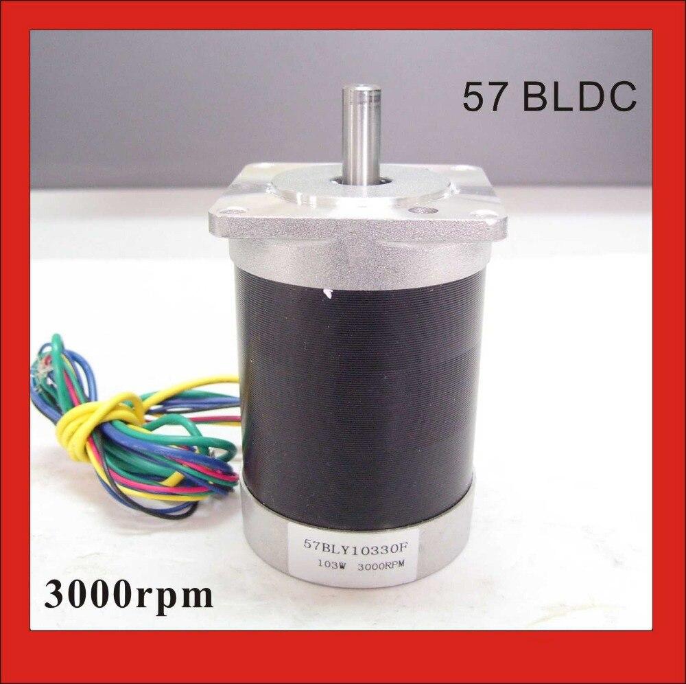 Hohe Qualität 3 Phsse 24 V 57 Bürstenlosen Gleichstrommotor 103 Watt 3000 rpm 45.8oz-in Platz Flansch