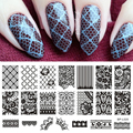 Lace Flower Pattern Nail Art Stamp Template Image Plate BORN PRETTY BP-L020 12.5 x 6.5cm