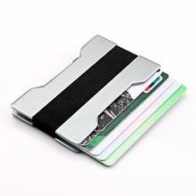 New Business Card Holder RFID Metal Wallet Antitheft Credit holder Portable Case Aluminium Alloy