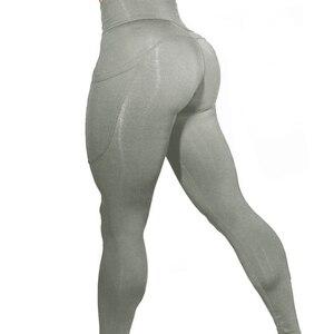 Image 4 - 2019 Phụ Nữ Thương Hiệu Thể Thao Mới Quần Legging Tập Thể Hình Cao Cấp Ngoài Trời Quần Legging Có Túi Bụng Điều Khiển Quần Thể Thao Bé Gái 01025
