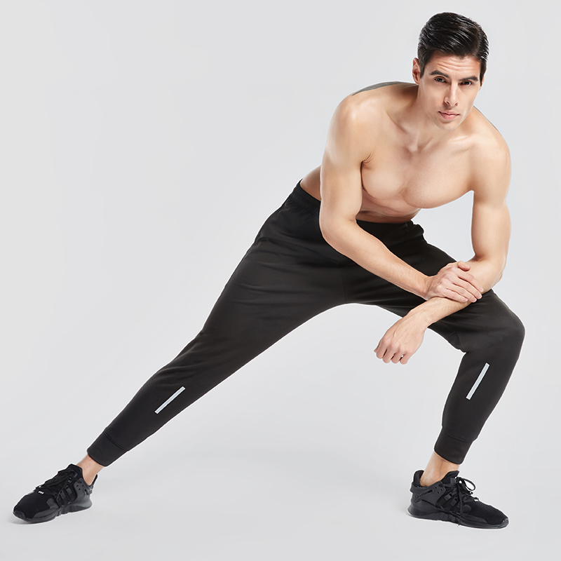 Vansydical Men Running Pants Jogging Trousers Fitness Sport Pants Men Workout Leggings Gym Breathable Running Training Pants
