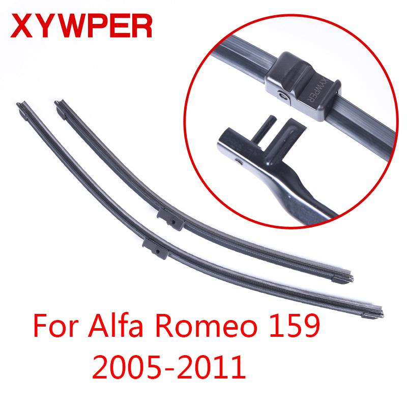 XYWPER Wiper Blades for Alfa Romeo 159 2005 2006 2007 2008 2009 2010 2011 Car Accessories Soft Rubber Windscreen wiper sumks wiper blades for honda insight 26
