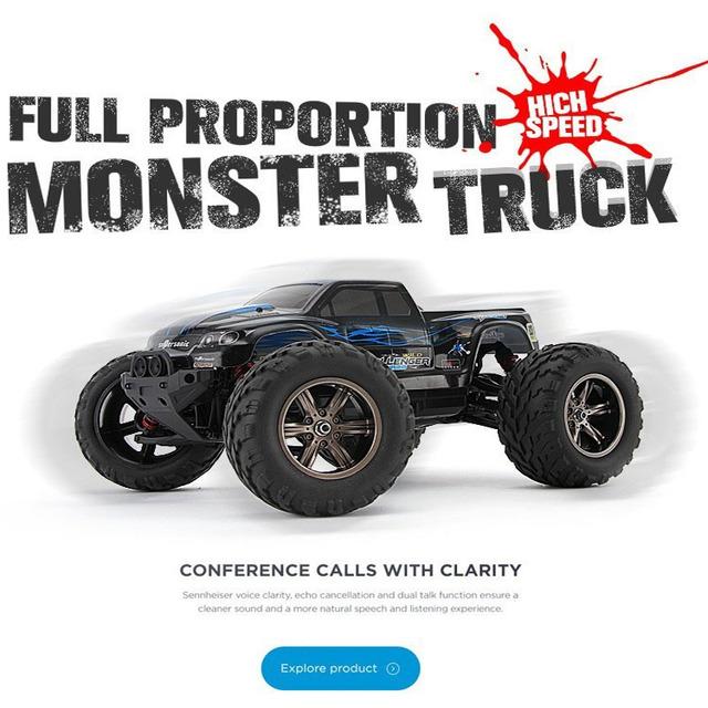 2Wd 42Km/H Rc Car High Speed Remote Control Off Road Dirt Bike Classic Truck