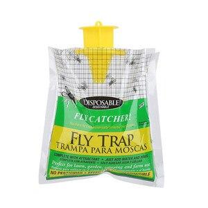 Image 3 - 5 PCS Wegwerp Fly Trap Catcher Fly Catcher Insect Trap Opknoping HOT Koop Ongediertebestrijding handig en praktische Huishoudelijke
