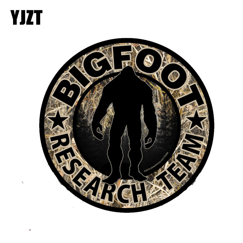 YJZT 12.2CM*12.2CM Car Window Bigfoot Research Team Car Sticker Motorcycle Accessories Decal 6-2162
