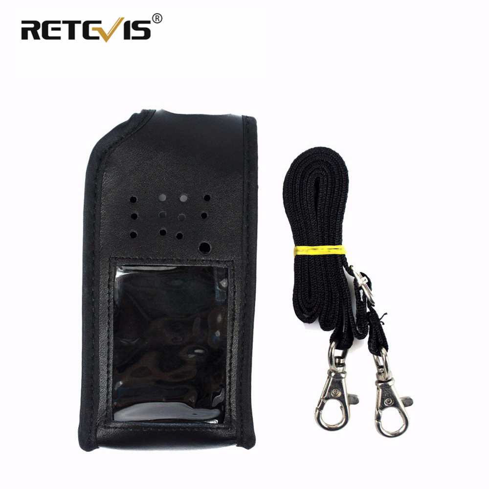 Black  Walkie Talkie Holster Leather Carrying Holder For Retevis RT8 RT81 For TYT MD-390 MD390 Digital Walkie Talkie Case J9115H