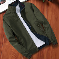 Spring And Autumn New Style Men Reversible Cotton Jacket Male High Quality Casual Long Sleeves Army