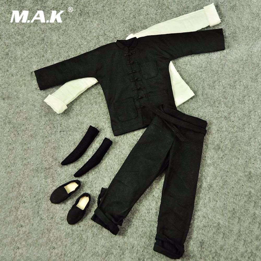 1/6 China Costume Male Clothing Kung Fu Suit Model Toys For 12