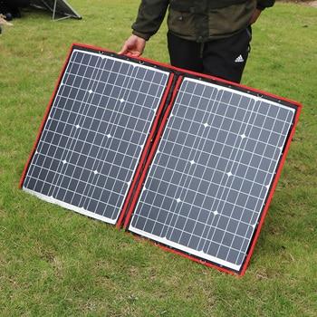 Dokio 100W 110W (55Wx2Pcs) 18V Flexible Black Solar Panels China Foldable + 12/24V Volt Controller 110 Watt Panels Solar 2