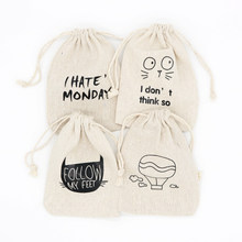 5pcs/lot Natural Cotton Bags 10x14cm Party Favors Linen Drawstring Gift Bag Muslin Pouch Jewelry Cosmetics Gifts Packaging Bags(China)