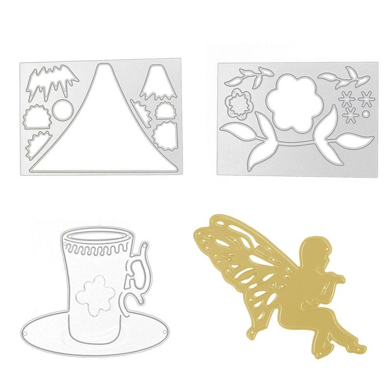 ⊰Ángel Bebé marco de la forma de corte de metal muere la flor forma ...