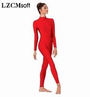 LZCMsoft Women Full Body Mock Neck Long Sleeve Ballet Unitards Bodysuit Adult Lycra Spandex Dance Suit