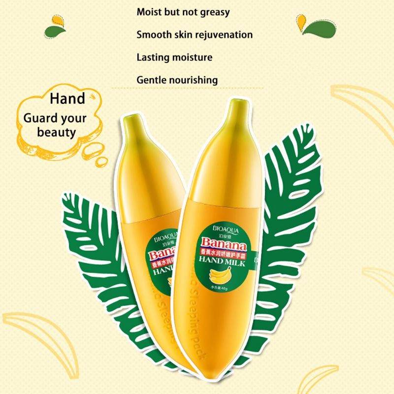 Banana Anti-chapping Hand Care Milk Hand Cream Moisturizing Nourish Lotions Handcream Skin Defender 2