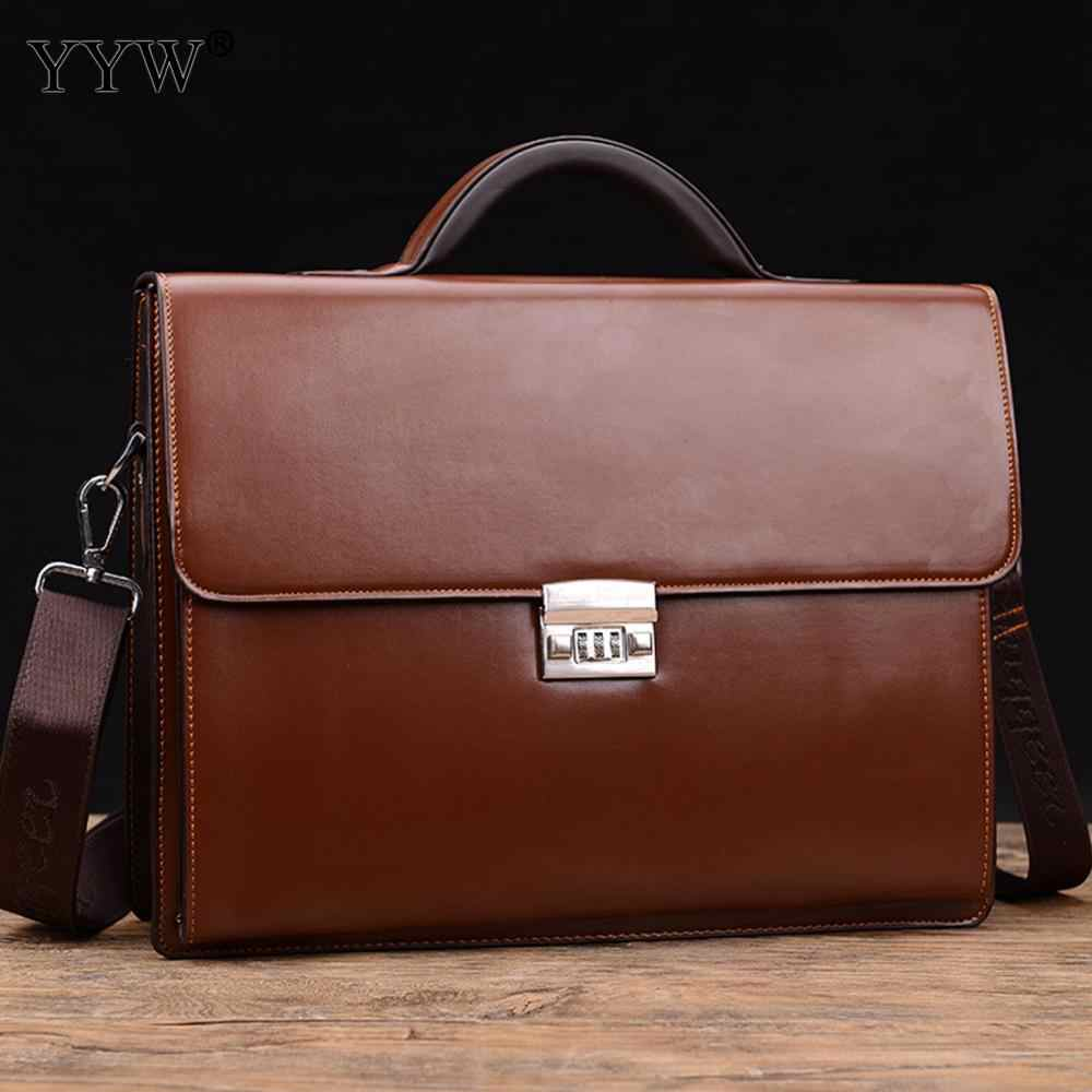 f26343b526a Business Male Bag Men's Executive Briefcase Black Portfolio Tote Bags for  Men Synthetic Leather Handbag A Case for Documents