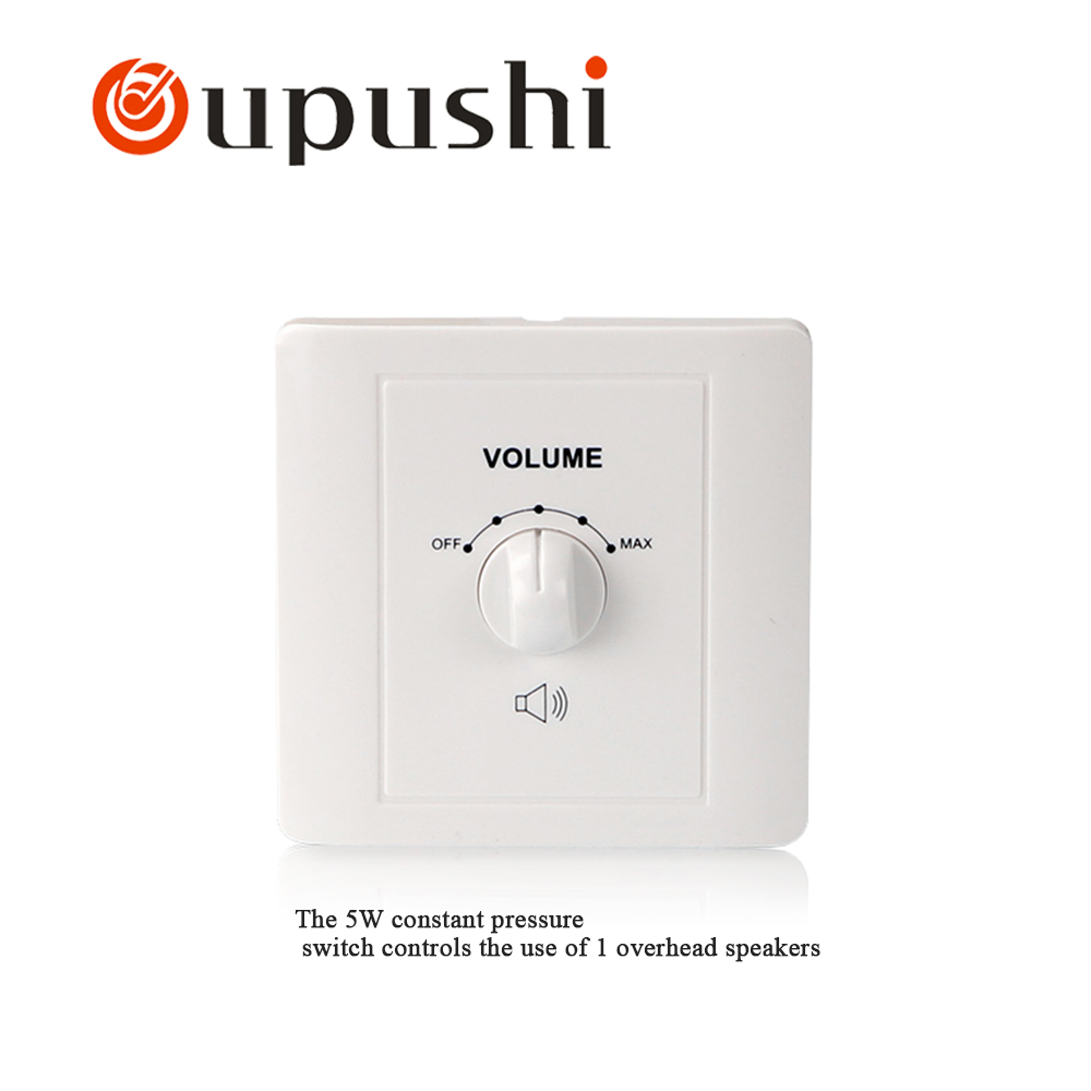 5-120W wall switch and socket type 86  resistive mixer switch speaker volume controller