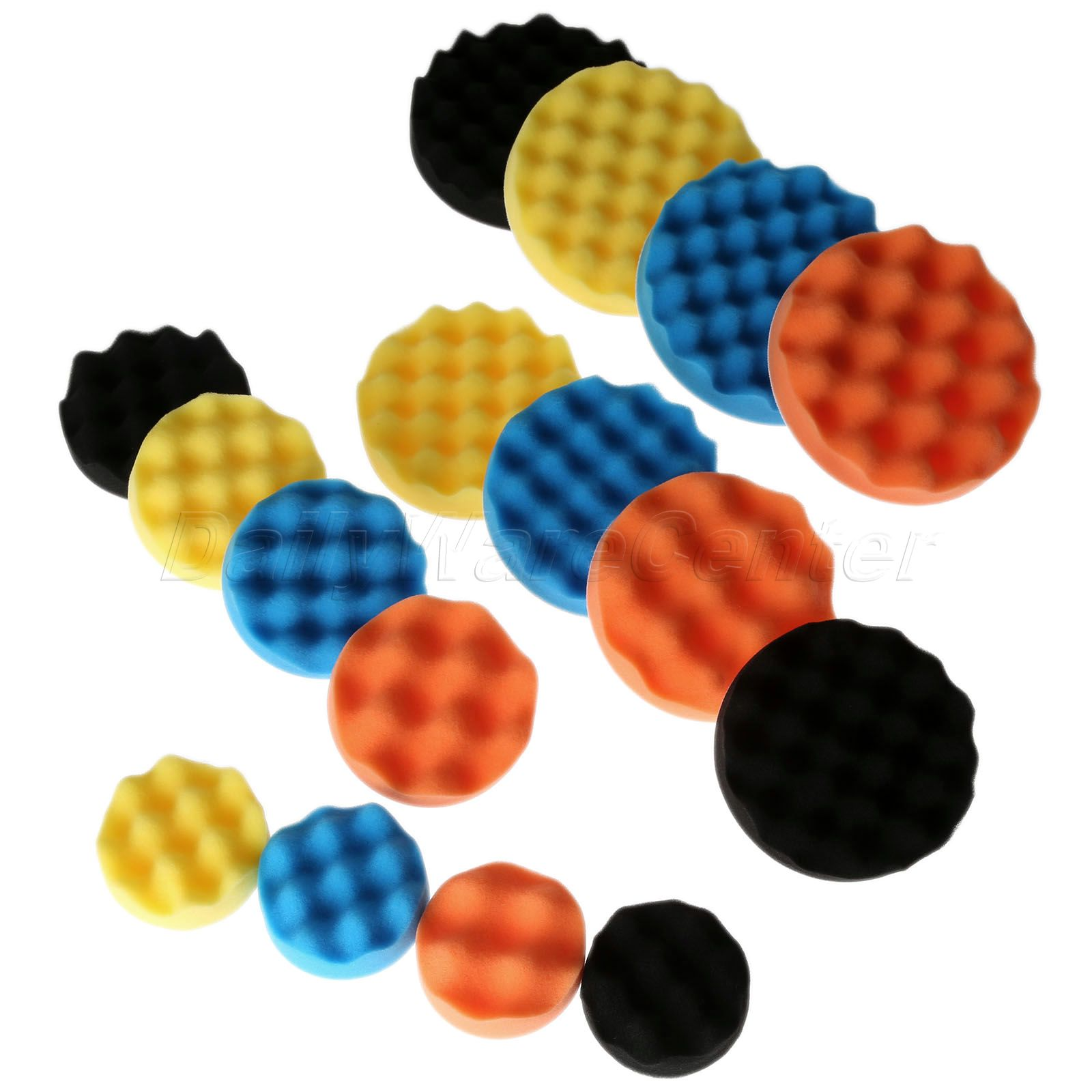 "Universal 50Pcs 80mm 3/"" Colorful Auto Buffing Polisher Polishing Sponge Pads Kit"